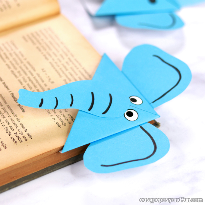 Elephant Corner Bookmark