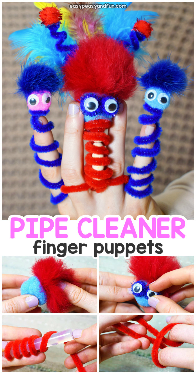 Finger Puppets Pipe Cleaner Craft for Kids
