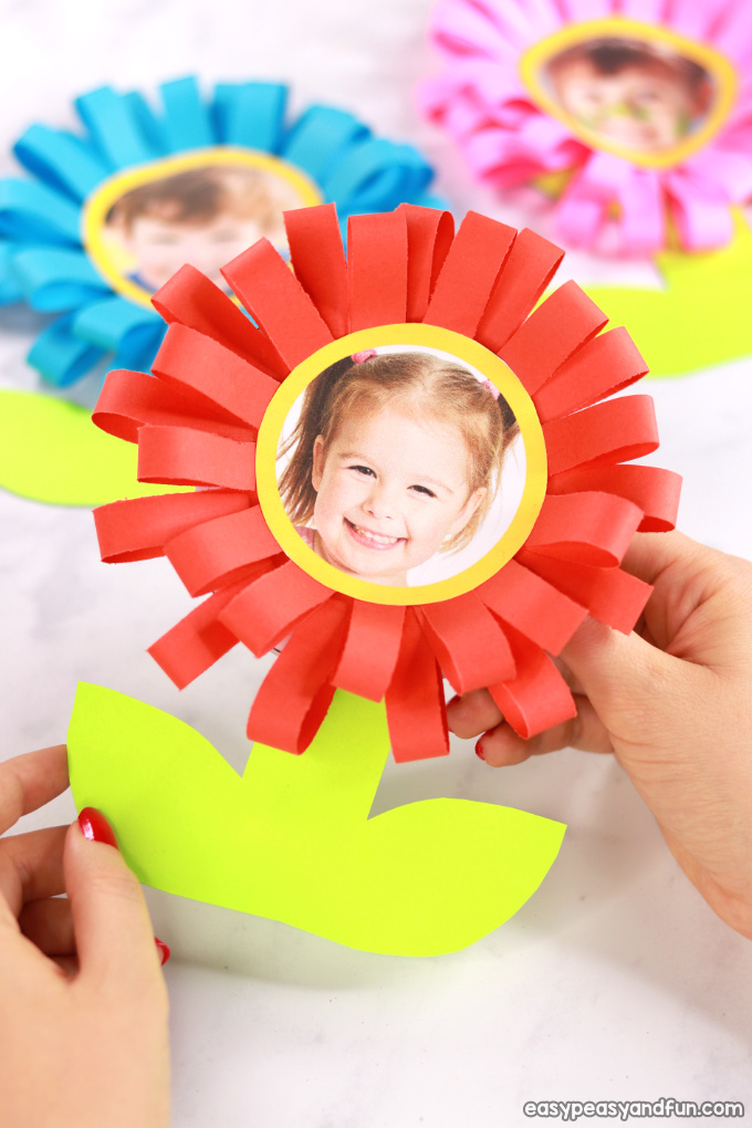 Flower Mothers Day Card Idea for Kids