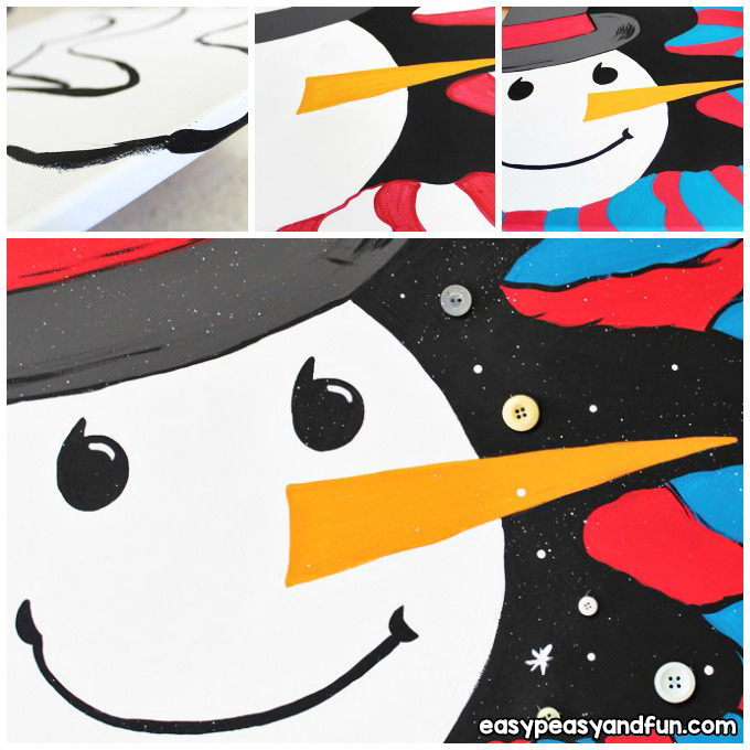 How to Paint a Snowman Art