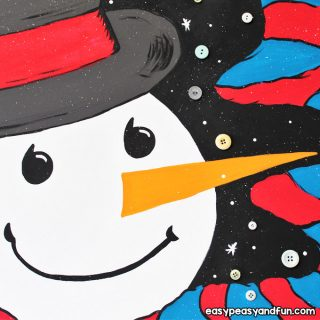 How to Paint a Snowman on Canvas