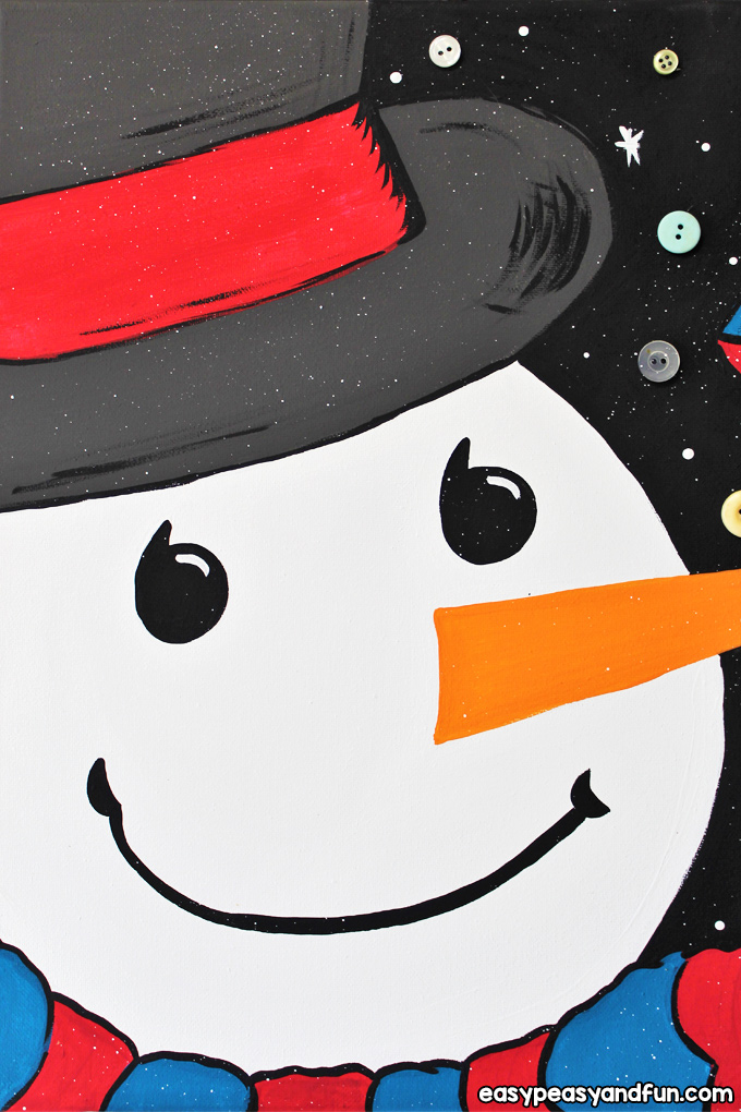 How to Paint a Snowman with Kids