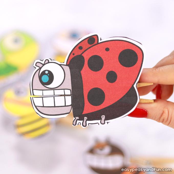 Ladybug Clothespin Puppet