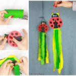 Ladybug Windsock Toilet Paper Roll Craft Idea