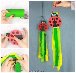 Ladybug Windsock Toilet Paper Roll Craft Idea