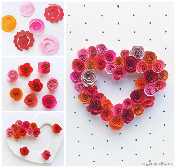 Paper Roses Heart Craft