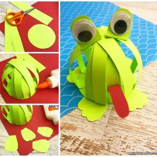 Paper Strips Frog Craft Idea