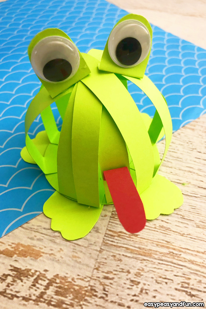 Paper Strips Frog Craft