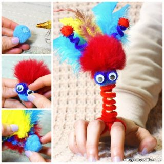 Pipe Cleaner Finger Puppets Craft Idea