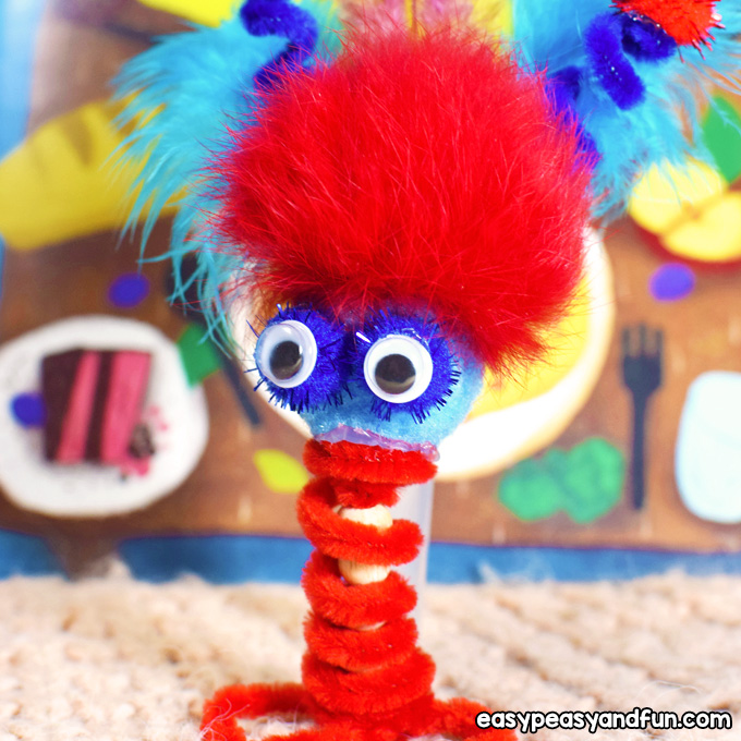 Pipe Cleaner Finger Puppets for Kids