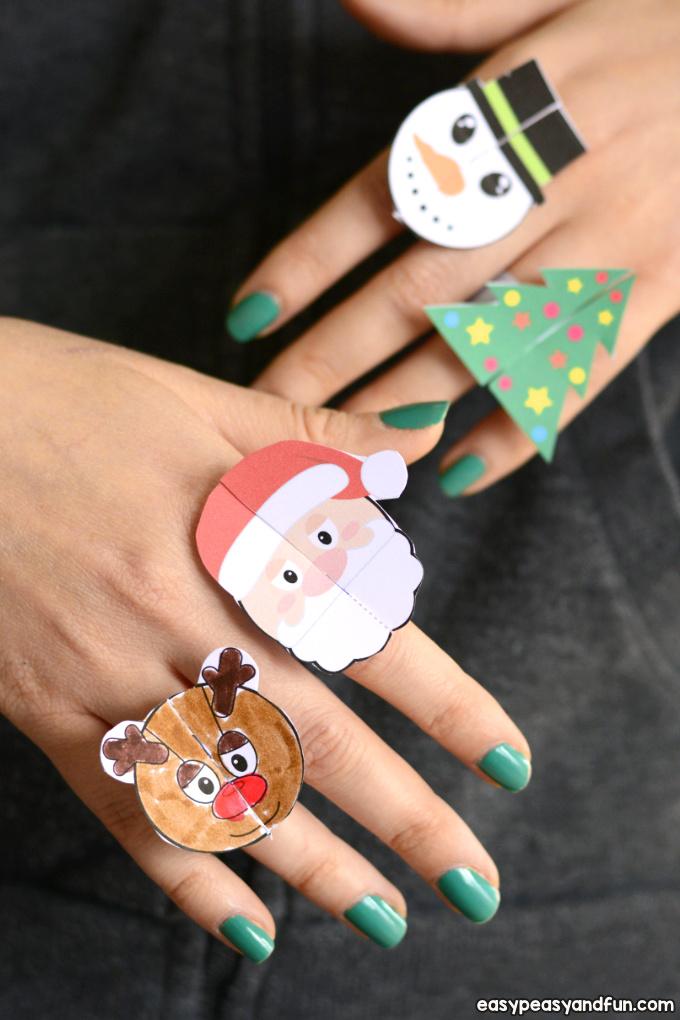 Printable Christmas Paper Rings for Kids
