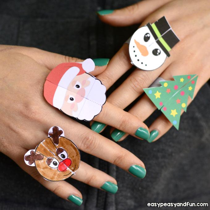 Printable Christmas Paper Rings