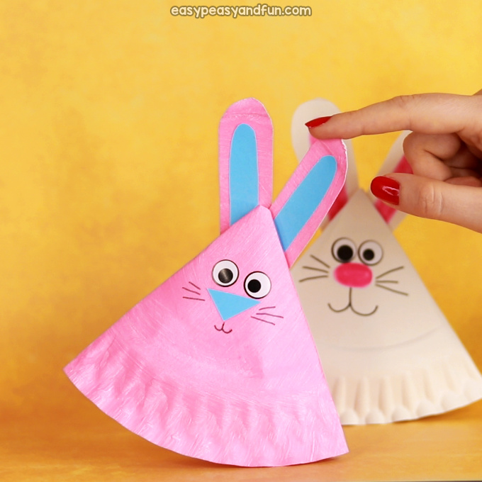 Rocking Paper Plate Bunny Craft Idea