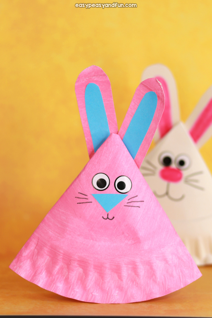 Rocking Paper Plate Bunny Craft