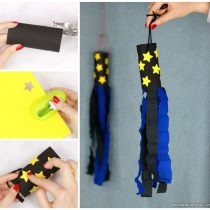 Space Windsock Toilet Paper Roll Craft