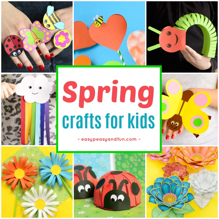 Spring Crafts for Kids. Fun craft ideas and crafts with printable templates.