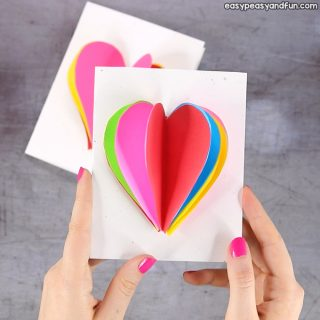 3D Heart Card for Kids