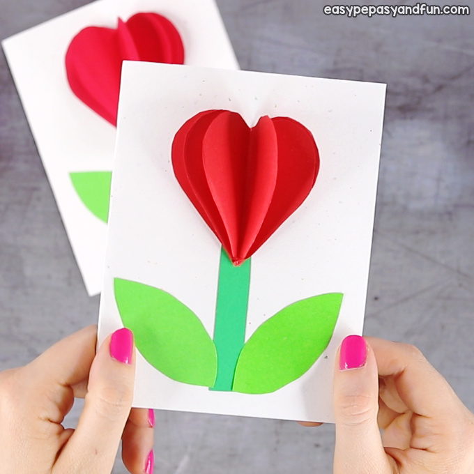 3D Heart Flower Card