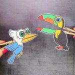 Clothespin Bird Puppets