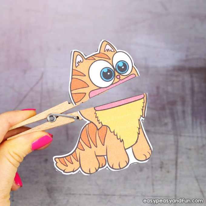 Clothespin Cat Puppet