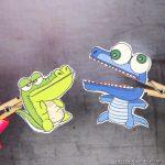 Clothespin Crocodile Puppets Printable
