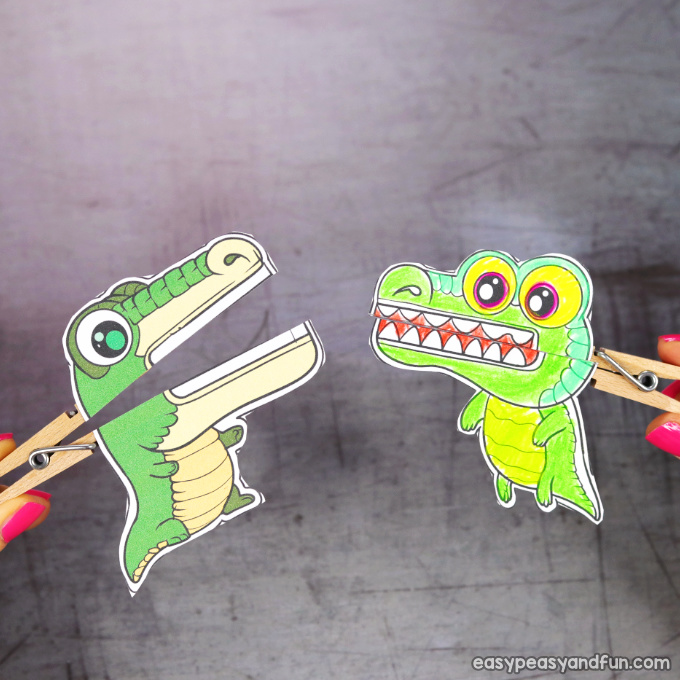 Clothespin Crocodile Puppets