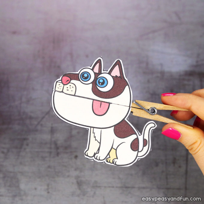 Clothespin Dog Puppet Printable