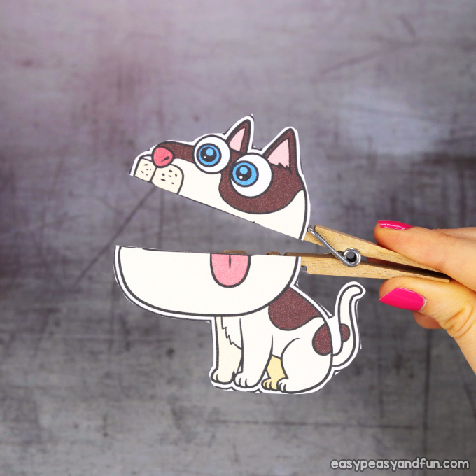 Clothespin Dog Puppet