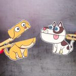 Clothespin Dog Puppets Printable