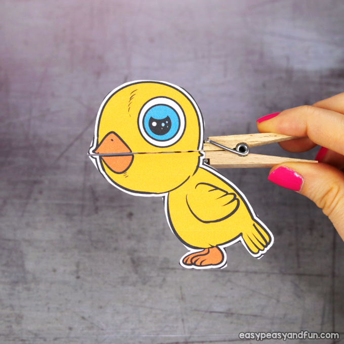 Clothespin Easter Puppet Printable