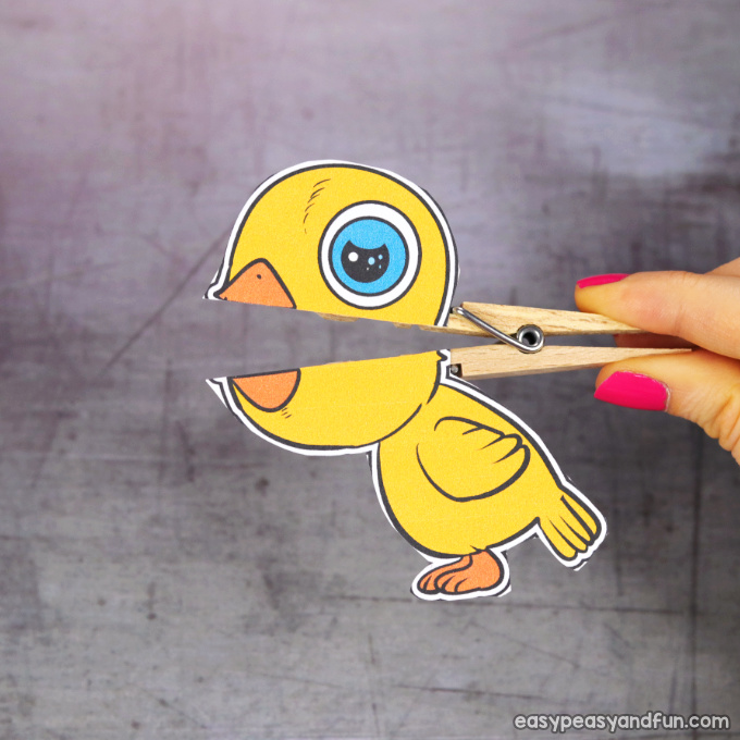 Clothespin Easter Puppet