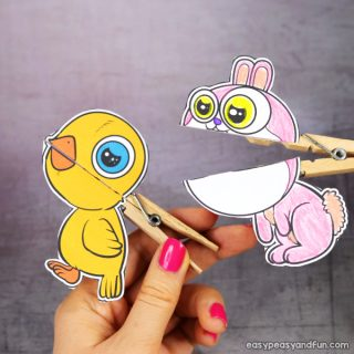 Clothespin Easter Puppets