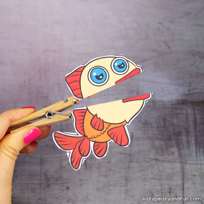 Clothespin Fish Puppet