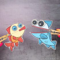 Fish Clothespin Puppets