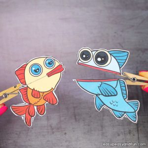 Clothespin Fish Puppets Printable