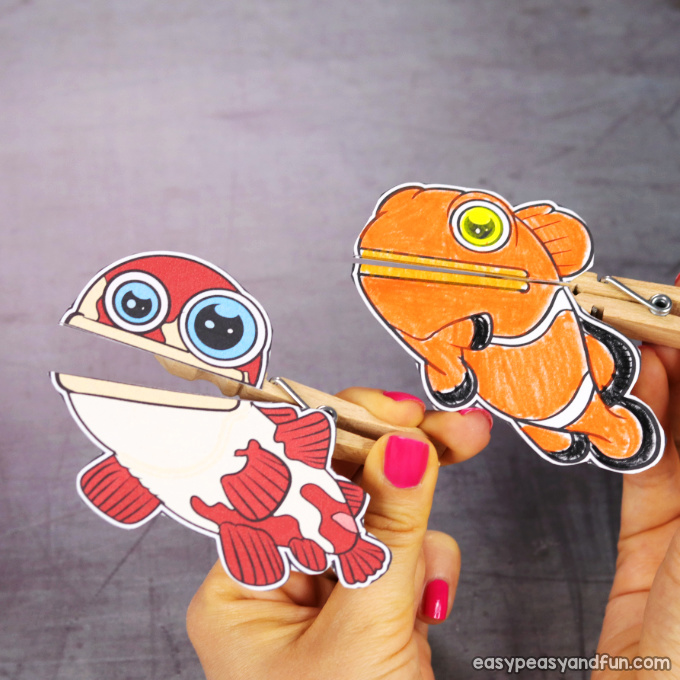 Clothespin Fish Puppets