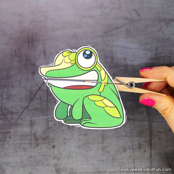 Clothespin Frog Puppet Printable