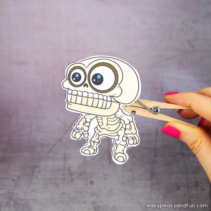 Clothespin Halloween Puppet Printable