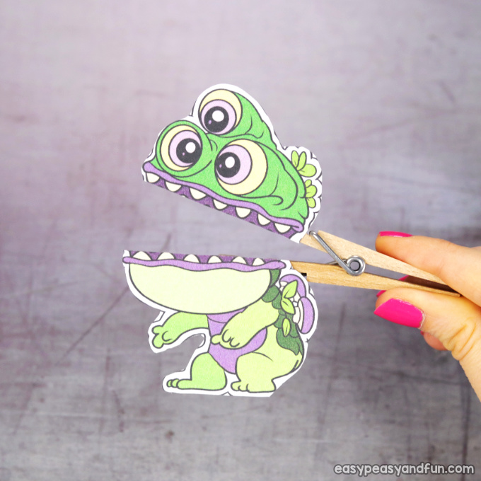 Clothespin Monster Puppet
