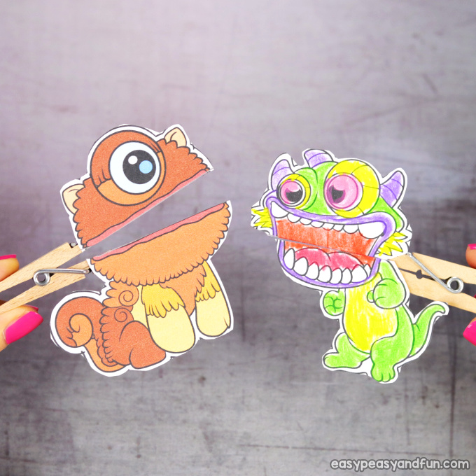 Clothespin Monster Puppets