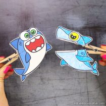 Shark Clothespin Puppets