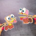 Clothespin Turkey Puppets Printable