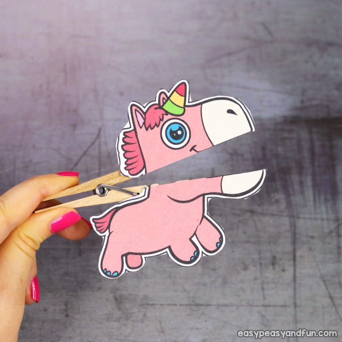 Clothespin Unicorn Puppet