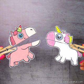 Clothespin Unicorn Puppets