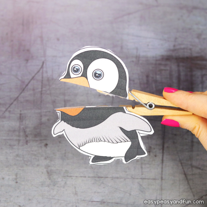 Clothespin penguin Puppet