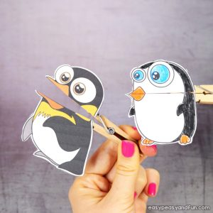 Clothespin penguin Puppets