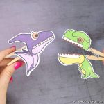 Dinosaurs Clothespin Puppets