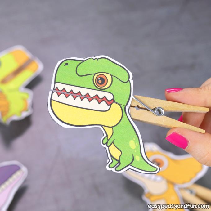 T-rex Clothespin Puppet