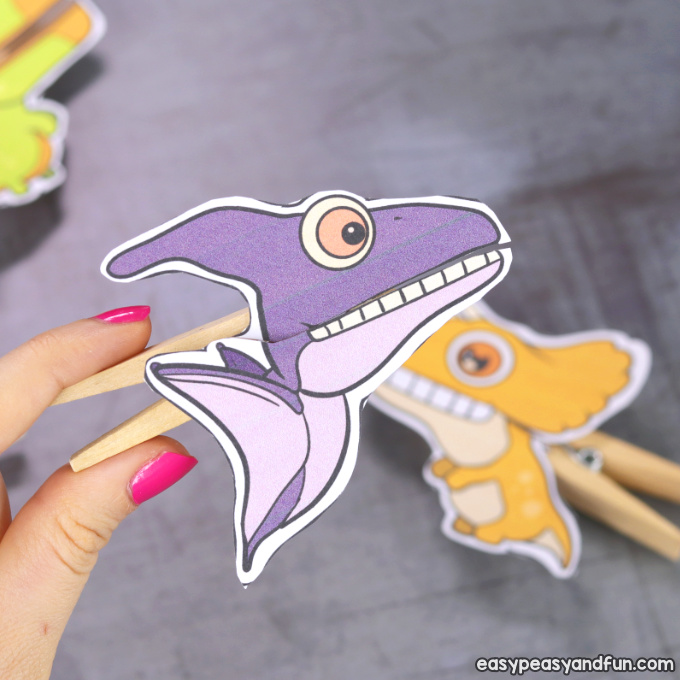 Pterodactyl Clothespin Puppet