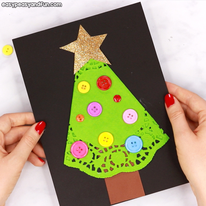 Doily Christmas Tree Craft
